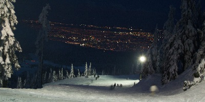 pista sci notte