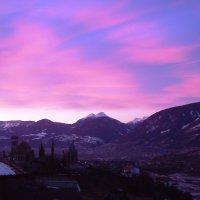 Spettacolare alba
